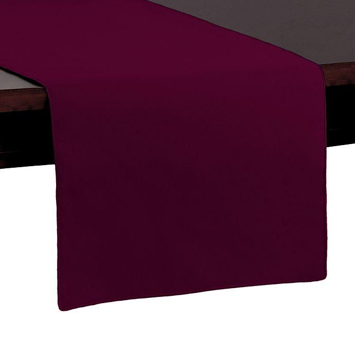 Alternate image 1 for Basic Polyester 54-Inch Table Runner in Ruby