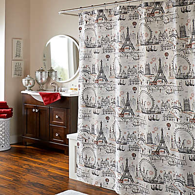 Oh La La La Lipstick Shower Curtain
