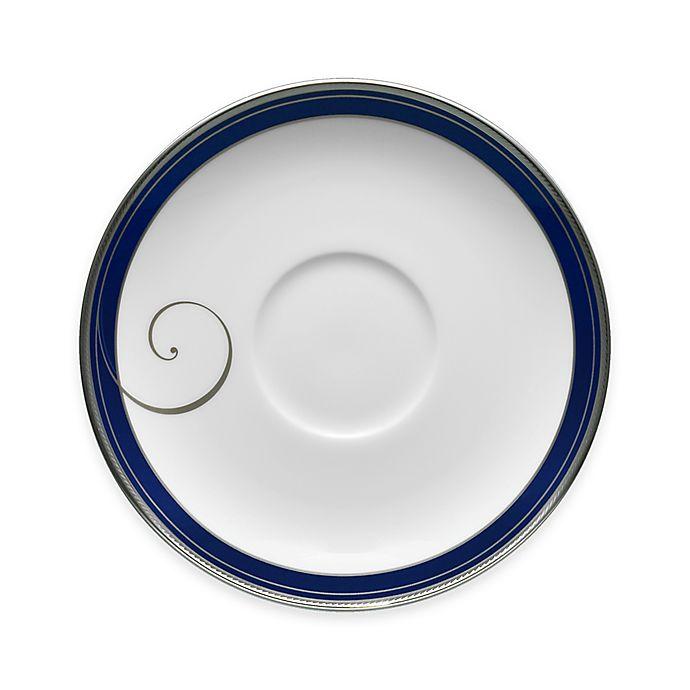 Alternate image 1 for Noritake® Platinum Wave Indigo Saucer