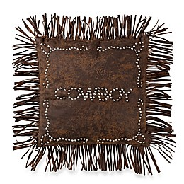 HiEnd Accents Calhoun Cowboy Studded Pillow