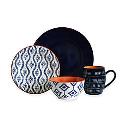 Baum Tangiers 16-Piece Dinnerware Set in Navy