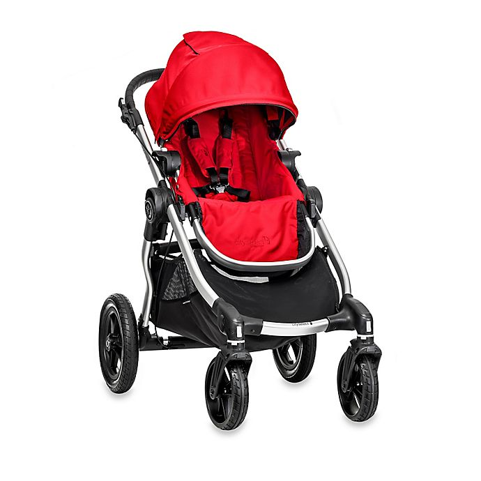 Alternate image 1 for Baby Jogger® city select® Single Stroller in Ruby/Silver