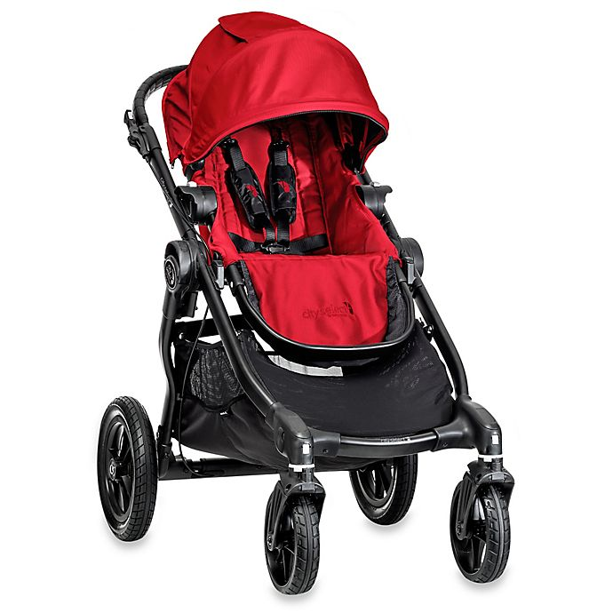 Alternate image 1 for Baby Jogger® city select® Single Stroller in Red/Black