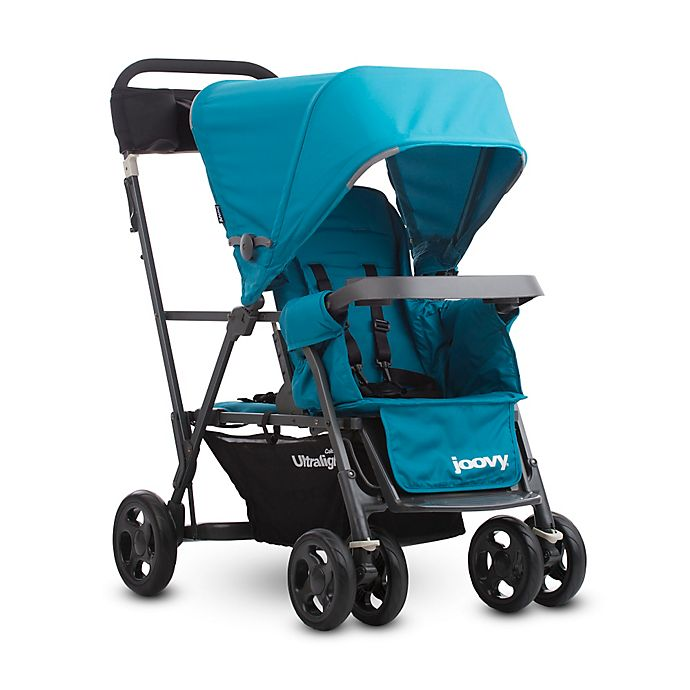 Alternate image 1 for Joovy® Caboose Ultralight Graphite Stand-On Tandem Stroller in Turquoise