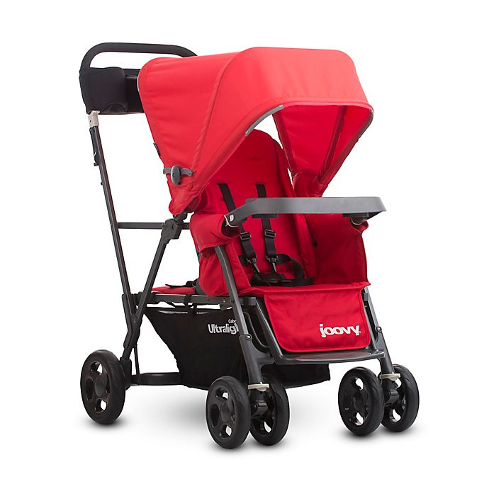 Alternate image 1 for Joovy® Caboose Ultralight Graphite Stand-On Tandem Stroller in Red