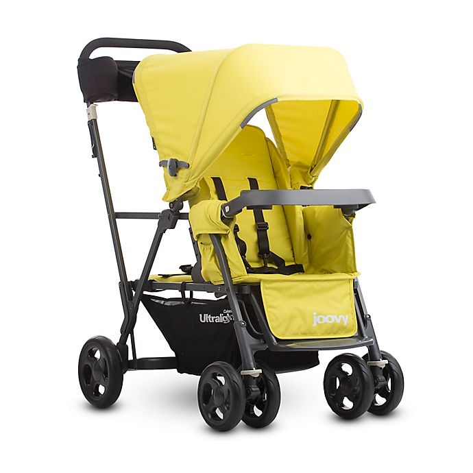 Alternate image 1 for Joovy® Caboose Ultralight Graphite Stand-On Tandem Stroller in Citron