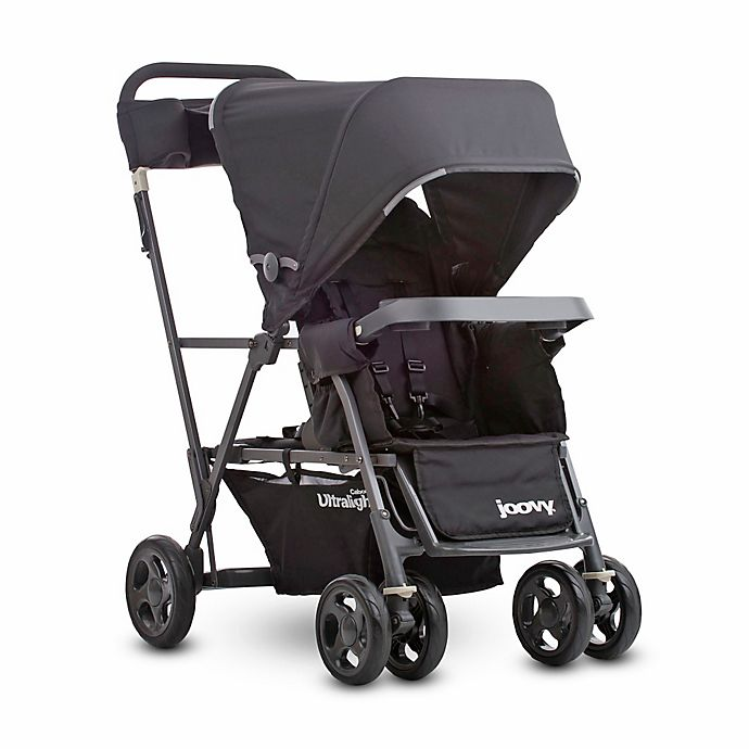 Alternate image 1 for Joovy® Caboose Ultralight Graphite Stand-On Tandem Stroller in Black