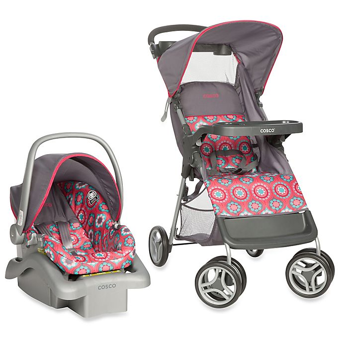 Alternate image 1 for Cosco® Life & Stroll™ Travel System in Posey Pop