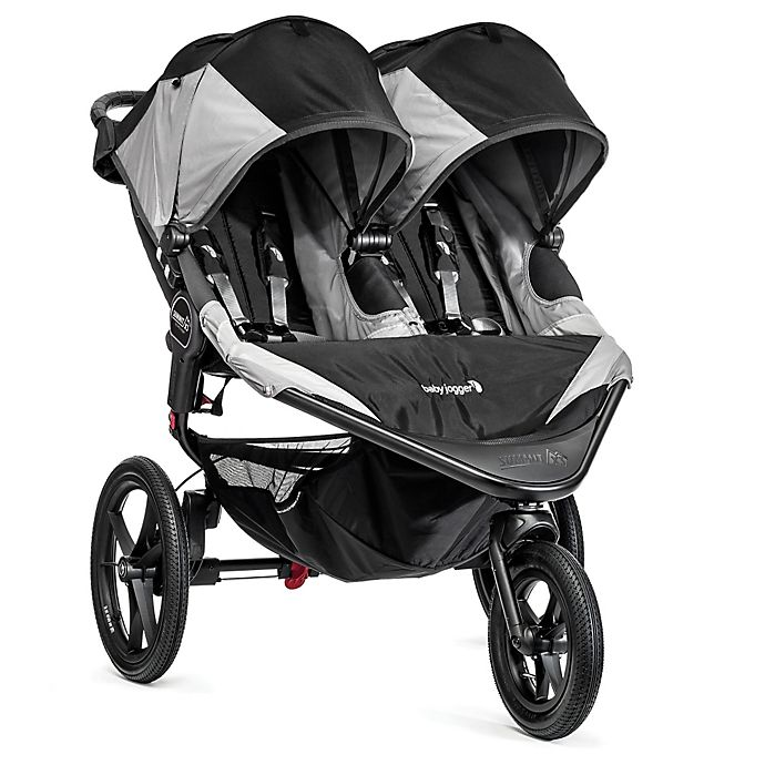 Alternate image 1 for Baby Jogger® Summit™ X3 Double Stroller in Black/Grey
