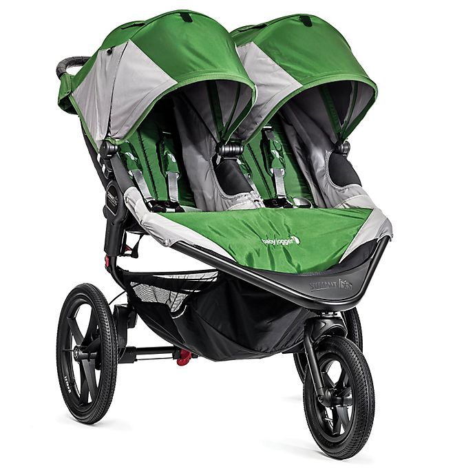 Alternate image 1 for Baby Jogger® Summit™ X3 Double Stroller in Green/Grey