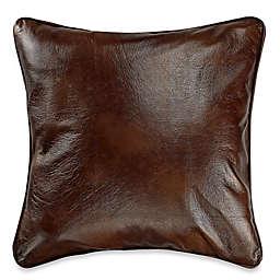 HiEnd Accents Faux Leather European Pillow Sham