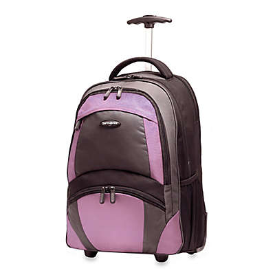 Samsonite® 19-Inch Wheeled Backpack in Black/Purple