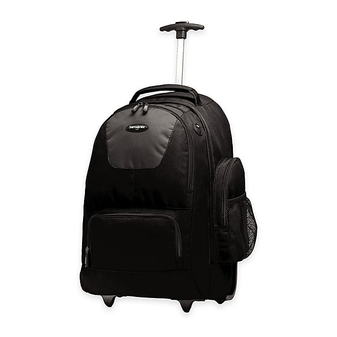 Alternate image 1 for Samsonite® 21-Inch Wheeled Backpack in Black/Charcoal