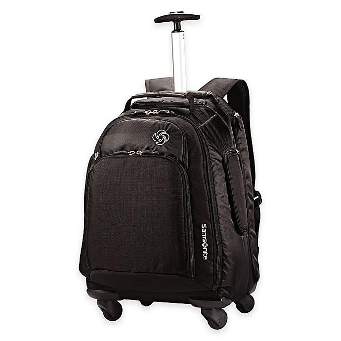 Alternate image 1 for Samsonite MVS 19-Inch Spinner Backpack in Black