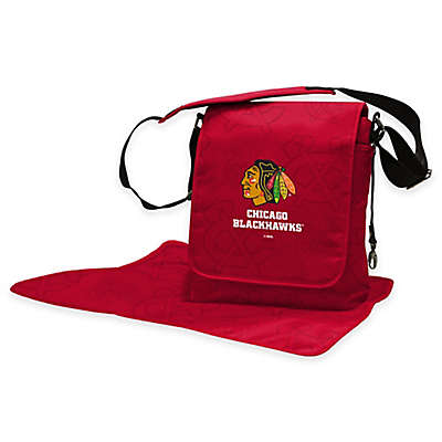 Lil Fan Chicago Blackhawks Messenger Diaper Bag
