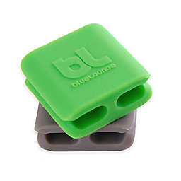 6-Pack CableDrop Mini Cable Holders in Green and Grey