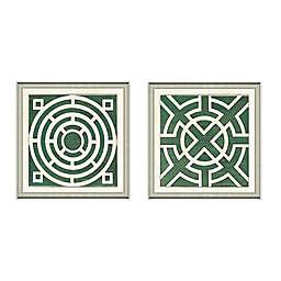 Framed Giclée Green Garden Plan Art Print Wall Art