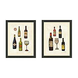 Framed Giclée Wine Bottles Print Wall Art Collection