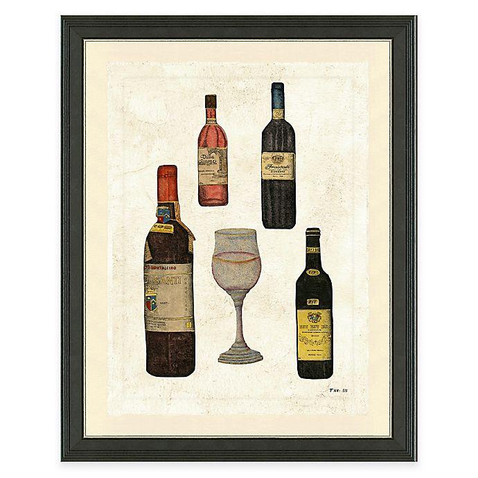 Alternate image 1 for Framed Giclée Wine Bottles I Print Wall Art