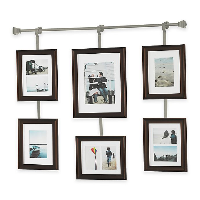 Wall Solutions 10 Piece Rod And Frame Set In Pewter Bed Bath And