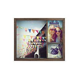 Umbra® 12.56-Inch x 10.5-Inch Grid Wood Shadow Box Frame in Walnut