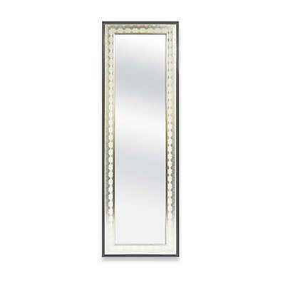 """Door Solutions™ Over-the-Door 17.5"""" x 53.5"""" Mirror in Embossed Champagne Lace"""