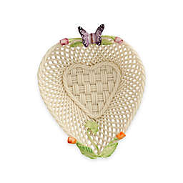 Belleek Rosebud Heart Basket