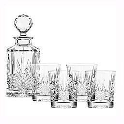 Belleek 5-Piece Galway Crystal Kells Decanter Set