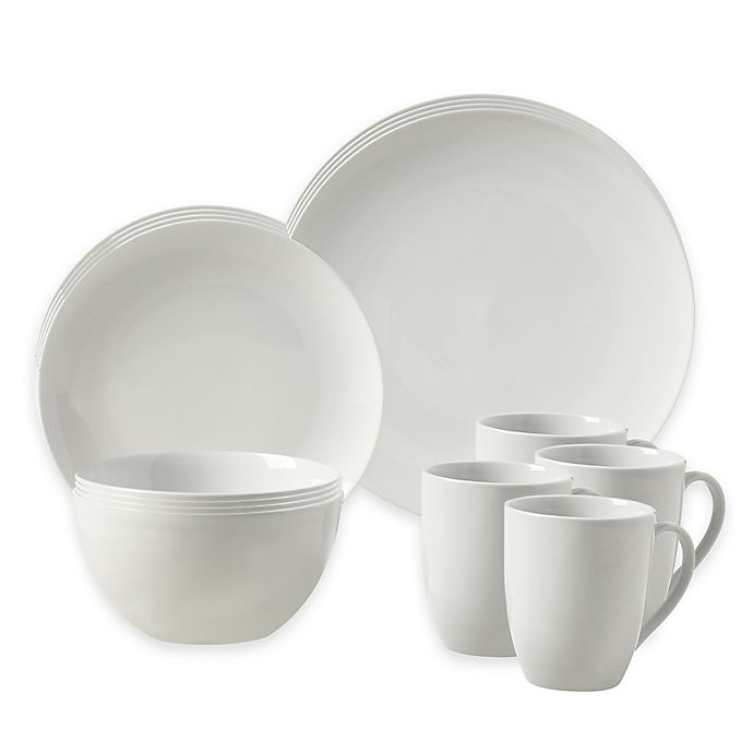 Alternate image 1 for Tabletops Gallery® Adams 16-Piece Coupe Dinnerware Set