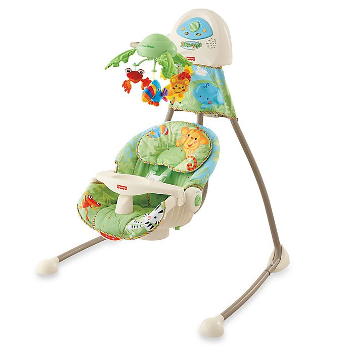 Fisher Price Rain Forest Open Top Cradle Swing
