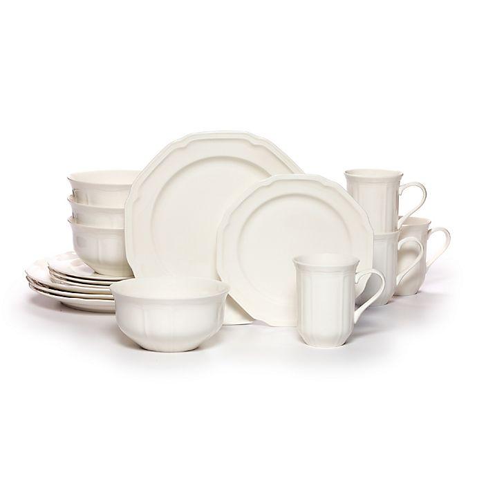 Alternate image 1 for Mikasa® Antique White 16-Piece Dinnerware Set