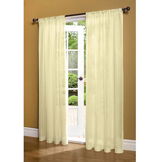 Alternate image 1 for Weathershield Rod Pocket Window Curtain Panel (Single)