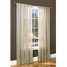 Weathervane Rod Pocket Window Curtain Panel in Linen