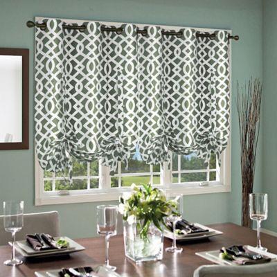 Trellis 63 Inch Grommet Top Tie Up Window Curtain Panel