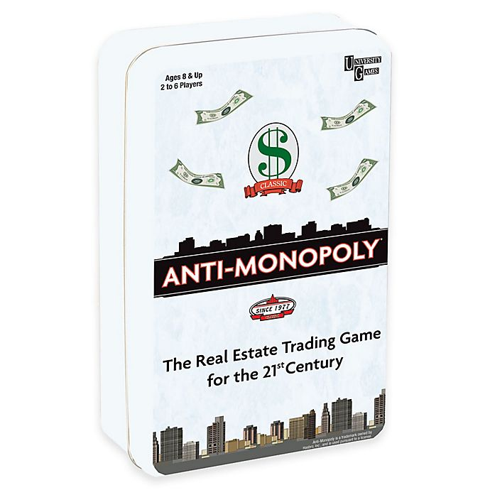 Alternate image 1 for Anti-Monopoly Travel Tin Edition Game
