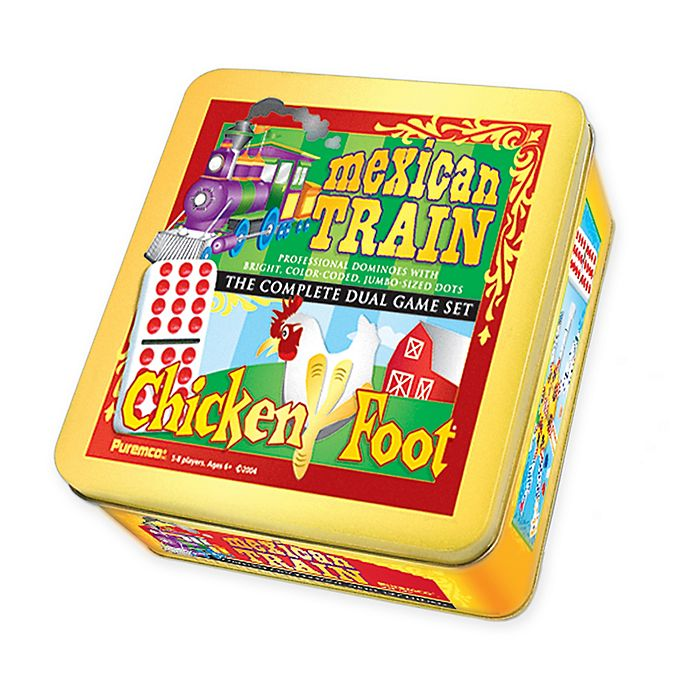 Alternate image 1 for Mexican Train & Chickenfoot Dominoes Dual Game Set