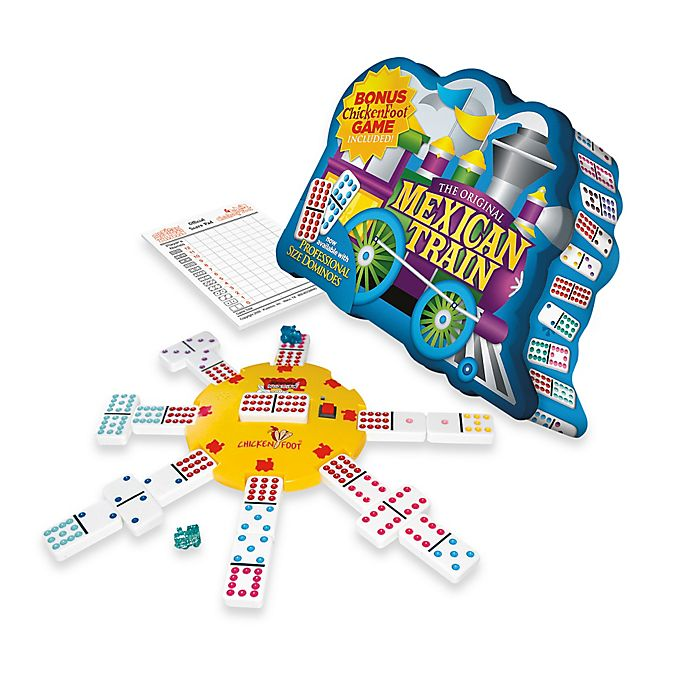 Alternate image 1 for Mexican Train Deluxe Traditional Double 12 Domino Set