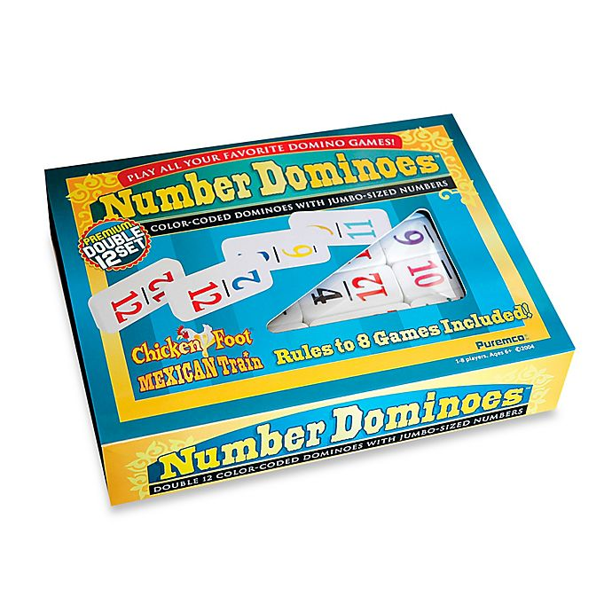 Alternate image 1 for Number Dominoes - Double 12 Set