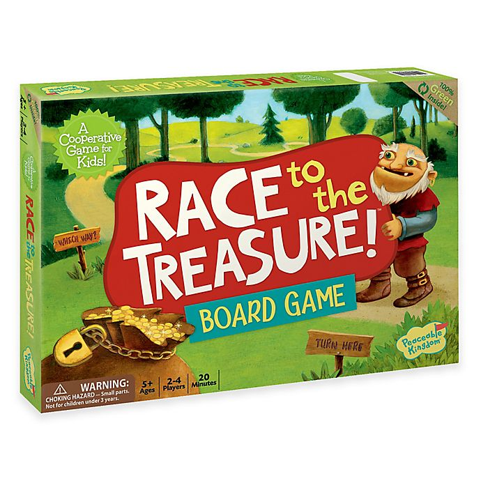 Alternate image 1 for Peaceable Kingdom Race to the Treasure Cooperative Board Game
