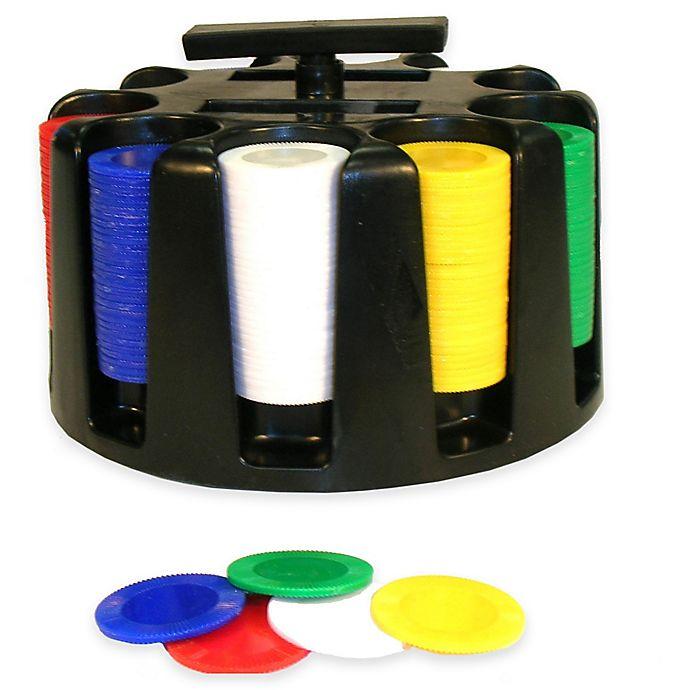 Alternate image 1 for 300 Poker Chips with Revolving Rack Set
