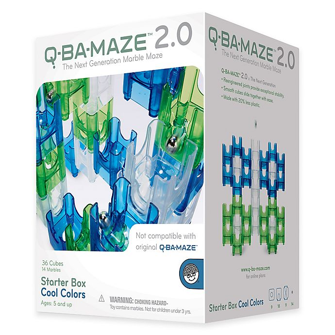 Alternate image 1 for Q-BA Maze 2.0 Starter Box 50-Piece in Cool Colors
