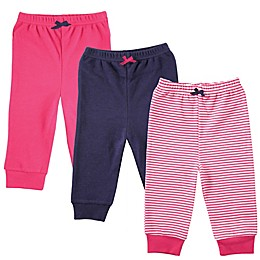 BabyVison® 3-Pack Luvable Friends Tapered Ankle Pants in Pink