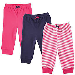 BabyVison® Size 12-18M 3-Pack Luvable Friends Tapered Ankle Pants in Pink