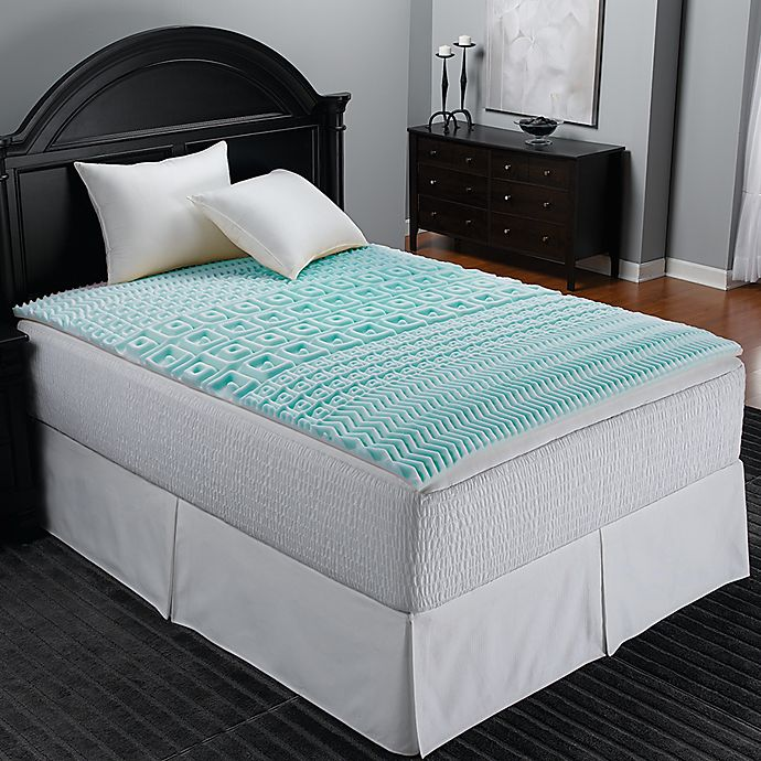 Sleep Zone 5 Zone Foam Egg Crate Mattress Topper In Blue Bed Bath