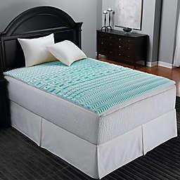 Sleep Zone 5-Zone Foam Egg Crate Mattress Topper in Blue