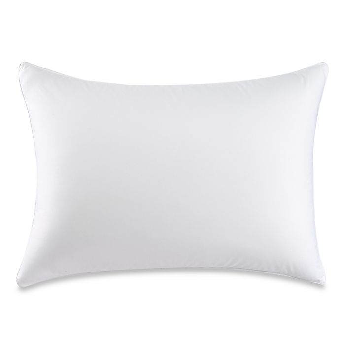 Alternate image 1 for Therapedic® Dacron® Memorelle® Fiber Standard/Queen Back/Stomach Sleeper Pillow in White