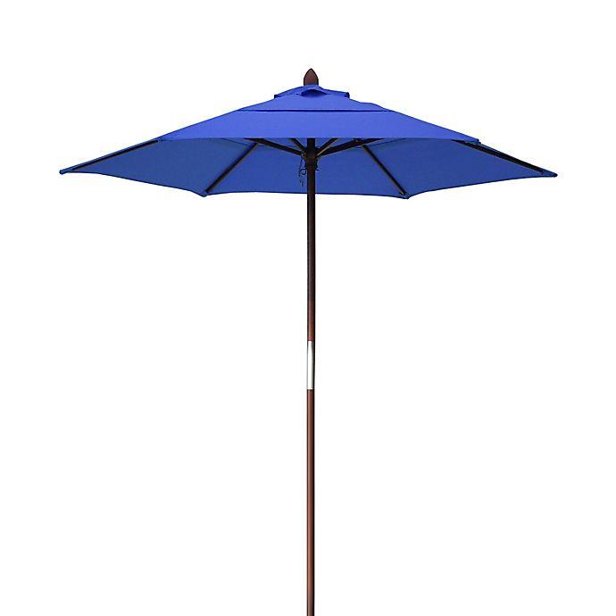 Alternate image 1 for Resort 7 3/4-Foot Wood Beach Umbrella
