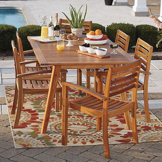 Westerly Acacia Wood Saddle Table Bed Bath And Beyond Canada
