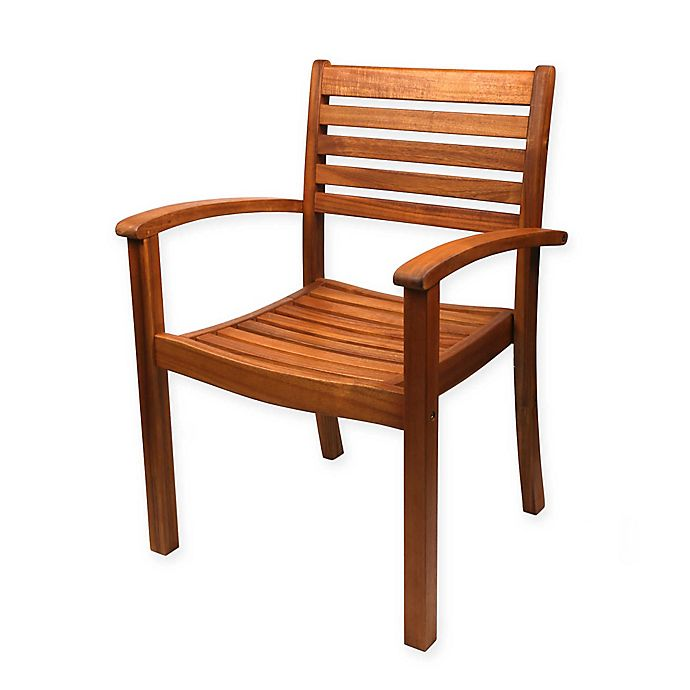 Westerly Acacia Wood Stacking Chairs Set Of 2 Bed Bath