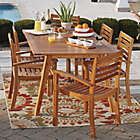 Alternate image 2 for Westerly Acacia Wood Stacking Chairs (Set of 2)